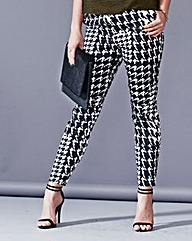 Simply Be Houndstooth Print Trousers