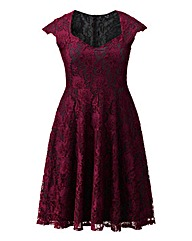 AX Paris Lace Sweetheart Neck Dress