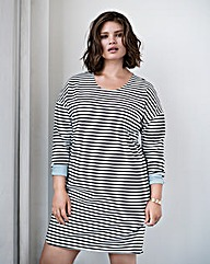 Junarose Stripe Jersey Dress