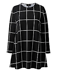 AX Paris Grid Print Swing Dress