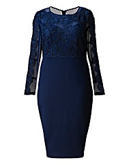 AX Paris Lace Contrast Midi Dress