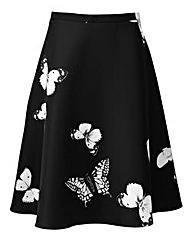 AX Paris Butterfly Print Midi Skirt