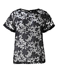 AX Paris Sheer Jacquard Top