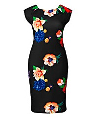 AX Paris Floral Print Bodycon Dress
