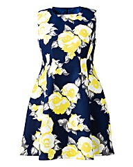 AX Paris Bold Floral Print Skater Dress