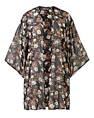 Alice And You Floral Print Kimono