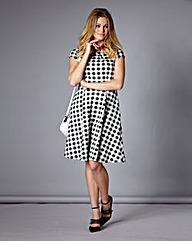 Simply Be Gingham Check Skater Dress