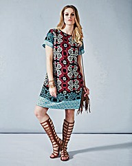Simply Be Boho Print Tunic Dress