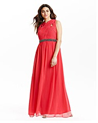 Little Mistress Cross Front Maxi Dress