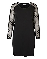 Junarose Mesh Sleeve Fitted Dress