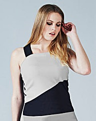 Simply Be Strap Detail Colour Block Top