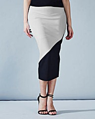 Simply Be Colour Block Skirt