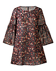 AX Paris Ditsy Print Swing Dress