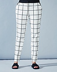 Simply Be Check Cigarette Trousers