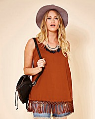 Simply Be Tassel Hem Vest Top