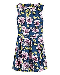 Closet Floral Print Skater Dress
