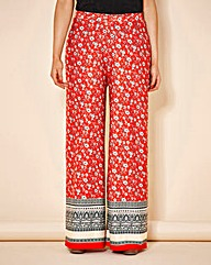 Simply Be Border Print Palazzo Pants