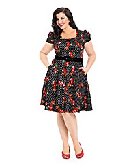 Voodoo Vixen Polka Dot Floral Dress