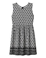 Alice and You Border Print Skater Dress