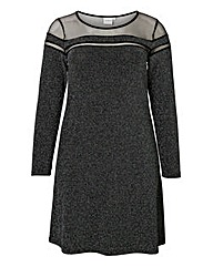 Junarose Metallic Yarn Dress