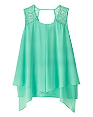 AX Paris Layered Chiffon Top