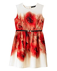 Little Mistress Poppy Print Prom Dress