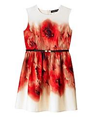 Little Mistress Poppy Print Prom Dress