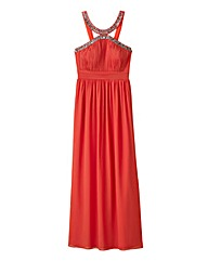 Little Mistress Embellished Neck Maxi
