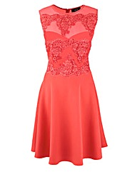 AX Paris Lace Contrast Skater Dress