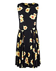 AX Paris Sunflower Print Skater Dress