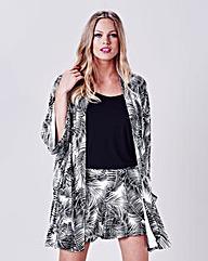Simply Be Palm Print Kimono