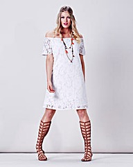Simply Be Lace Bardot Dress