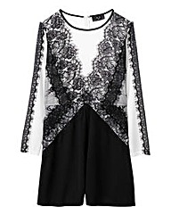 AX Paris Lace Trim Playsuit