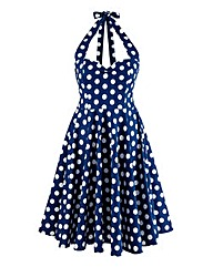 Hell Bunny Polkadot Halterneck Dress