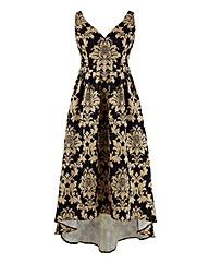 Chi Chi Plunge Jacquard Dress
