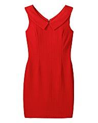 Paper Dolls Red Wide Collar Dress