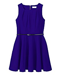 Closet Cap Sleeve Belted Dress