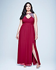 Little Mistress Split Maxi Dress