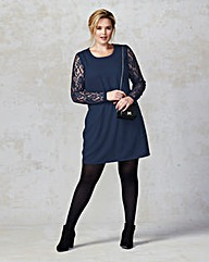 Junarose Lace Sleeve Dress