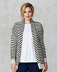 Junarose Stripe Loose Knit Cardigan