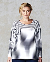 Junarose Stripe Tie Back Top
