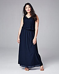 Junarose Lace Top Maxi Dress