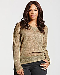 Elvi Gold Sequin Jumper
