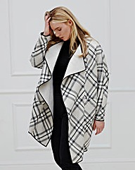 Elvi Check Waterfall Coat