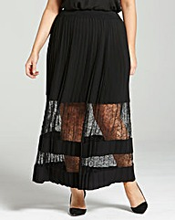 Elvi Lace-Panel Maxi Skirt