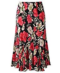 Print Plisse Panelled Skirt Length 27in