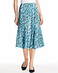 Print Plissé Panelled Skirt Length 27in