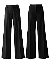 Pack of 2 Wide Leg Trousers Short
