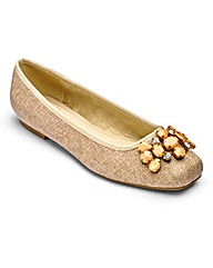 Sole Diva Jewelled Ballerinas E Fit