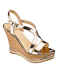 Sole Diva Wedge Sandals E Fit